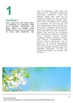 Springtime Word Template, First Inner Page, 01566, Nature & Environment — PoweredTemplate.com