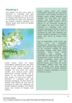 Springtime Word Template, Second Inner Page, 01566, Nature & Environment — PoweredTemplate.com