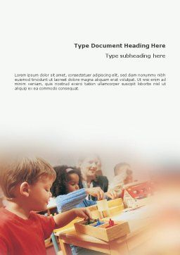 Children Word Template, Cover Page, 01567, Education & Training — PoweredTemplate.com