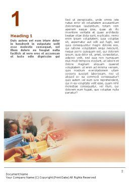 Children Word Template, First Inner Page, 01567, Education & Training — PoweredTemplate.com