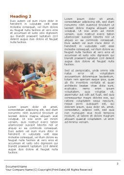 Children Word Template, Second Inner Page, 01567, Education & Training — PoweredTemplate.com