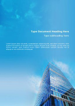 Shining Skyscraper Word Template, Cover Page, 01568, Business — PoweredTemplate.com