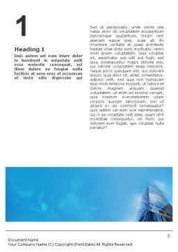 Shining Skyscraper Word Template, First Inner Page, 01568, Business — PoweredTemplate.com