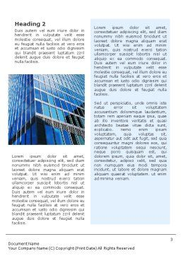 Shining Skyscraper Word Template, Second Inner Page, 01568, Business — PoweredTemplate.com