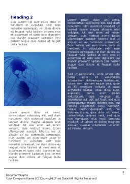 Globe Model Word Template, Second Inner Page, 01571, Global — PoweredTemplate.com