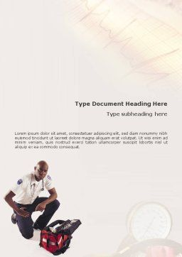 Paramedic Word Template, Cover Page, 01572, Medical — PoweredTemplate.com