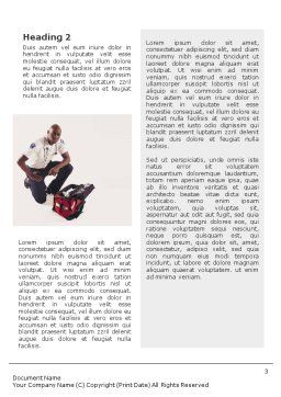 Paramedic Word Template, Second Inner Page, 01572, Medical — PoweredTemplate.com