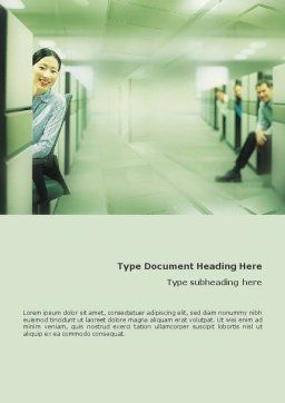Office Word Template, Cover Page, 01577, Business Concepts — PoweredTemplate.com
