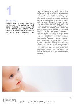 Baby On Light Blue Background Word Template, First Inner Page, 01580, Education & Training — PoweredTemplate.com