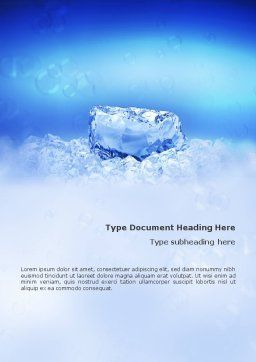 Ice Word Template, Cover Page, 01581, Nature & Environment — PoweredTemplate.com