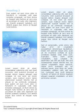 Ice Word Template, Second Inner Page, 01581, Nature & Environment — PoweredTemplate.com