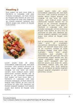 Grill Word Template, Second Inner Page, 01582, Food & Beverage — PoweredTemplate.com