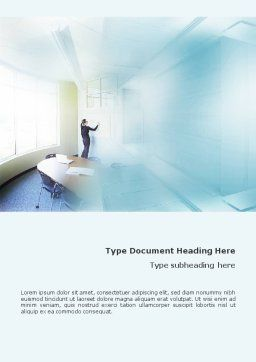 Training In A Blue Room Word Template Cover Page