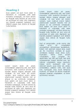 Training In A Blue Room Word Template Second Inner Page