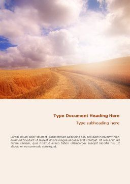 Fields of Gold Word Template Cover Page