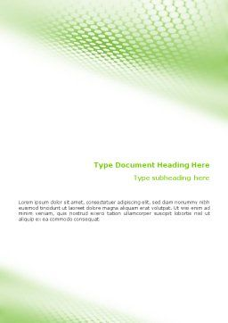 Green Grid Word Template, Cover Page, 01585, Abstract/Textures — PoweredTemplate.com