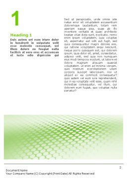 Green Grid Word Template, First Inner Page, 01585, Abstract/Textures — PoweredTemplate.com