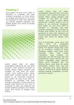 Green Grid Word Template, Second Inner Page, 01585, Abstract/Textures — PoweredTemplate.com