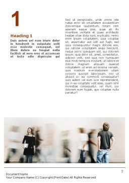 Society Word Template, First Inner Page, 01586, People — PoweredTemplate.com