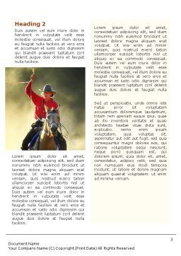 Cowboy Word Template Second Inner Page
