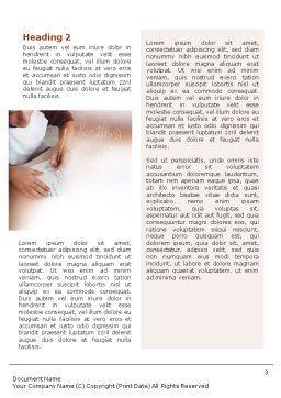 Mathematics Word Template, Second Inner Page, 01591, Education & Training — PoweredTemplate.com