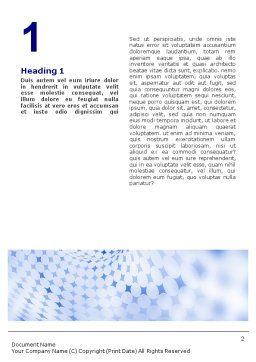 Blue Abstract Word Template, First Inner Page, 01592, Abstract/Textures — PoweredTemplate.com