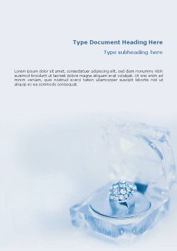 Jewelry Word Template, Cover Page, 01596, Careers/Industry — PoweredTemplate.com