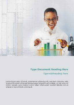 Chemistry Experiment Word Template, Cover Page, 01598, Education & Training — PoweredTemplate.com
