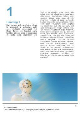 Acupuncture Word Template, First Inner Page, 01599, Medical — PoweredTemplate.com