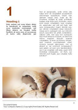 Mushrooms Word Template First Inner Page