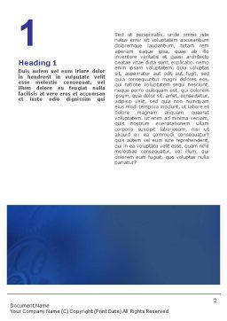 Mechanism Word Template, First Inner Page, 01604, Utilities/Industrial — PoweredTemplate.com