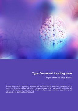Brain Word Template, Cover Page, 01606, Medical — PoweredTemplate.com