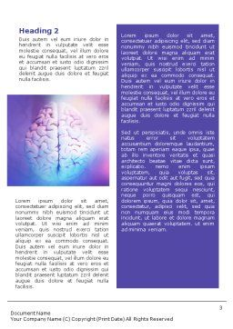 Brain Word Template, Second Inner Page, 01606, Medical — PoweredTemplate.com