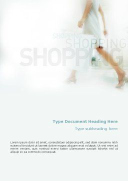 Women On Shopping Word Template, Cover Page, 01607, Business Concepts — PoweredTemplate.com