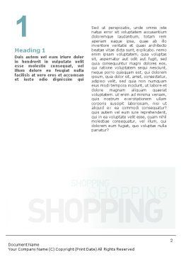 Women On Shopping Word Template First Inner Page