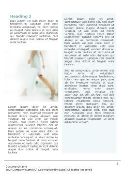 Women On Shopping Word Template Second Inner Page