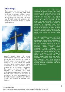 Cross Word Template, Second Inner Page, 01608, Religious/Spiritual — PoweredTemplate.com