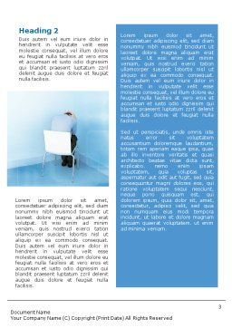 Psychology Word Template, Second Inner Page, 01609, People — PoweredTemplate.com