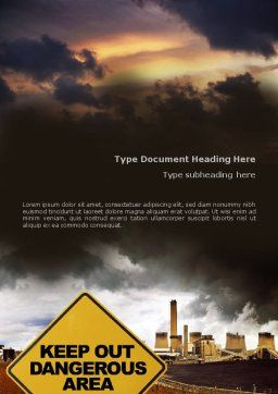 Pollution Word Template, Cover Page, 01611, Nature & Environment — PoweredTemplate.com