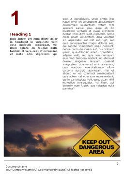 Pollution Word Template, First Inner Page, 01611, Nature & Environment — PoweredTemplate.com