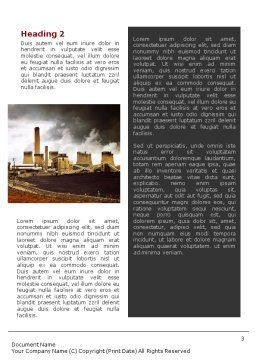 Pollution Word Template, Second Inner Page, 01611, Nature & Environment — PoweredTemplate.com