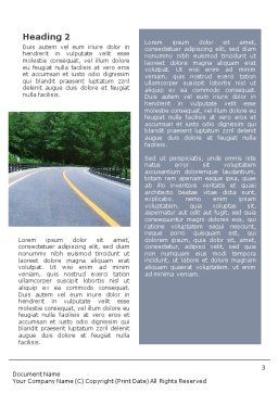 Highway In The Hill Country Word Template, Second Inner Page, 01612, Construction — PoweredTemplate.com