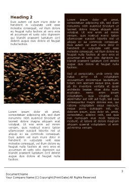 Coffee Beans In A Bag Word Template Second Inner Page