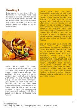 Thanksgiving Word Template, Second Inner Page, 01615, Holiday/Special Occasion — PoweredTemplate.com
