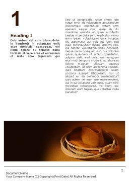 Cowboy Hat Word Template, First Inner Page, 01616, America — PoweredTemplate.com