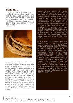 Cowboy Hat Word Template, Second Inner Page, 01616, America — PoweredTemplate.com