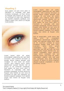 Look Word Template, Second Inner Page, 01618, Careers/Industry — PoweredTemplate.com