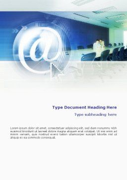 Internet Conference Word Template, Cover Page, 01619, Telecommunication — PoweredTemplate.com