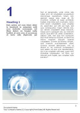 Internet Conference Word Template, First Inner Page, 01619, Telecommunication — PoweredTemplate.com