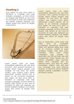 Phonendoscope In A Brown Color Word Template, Second Inner Page, 01623, Medical — PoweredTemplate.com
